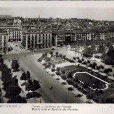 Postales: SANTANDER. Nº 211, PASEO Y JARDINES DE PEREDA. FOTOFRÁFICA L.ROISIN. CIRCULADA 1957. Lote 213744460