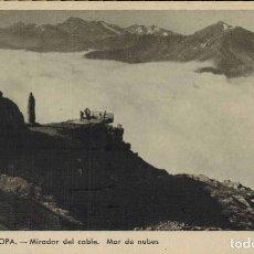 Postales: POTES, CANTABRIA. MIRADOR DEL CABLE, MAR DE NUBES. FOTO E. BUSTAMANTE. Lote 213744603
