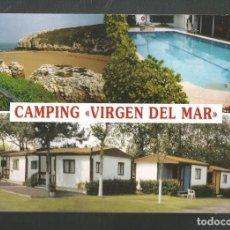 Postales: TARJETA POSTAL PUBLICITARIA CAMPING VIRGEN DEL MAR - SANTANDER - EDITA ESCUDO DE ORO - VER FOTO. Lote 213760845