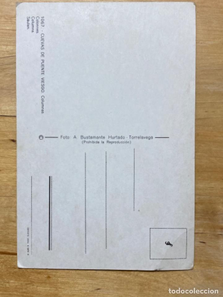 Postales: Postal cuevas de puente Viesgo columnas postal cantabria sin circular - Foto 2 - 213858081