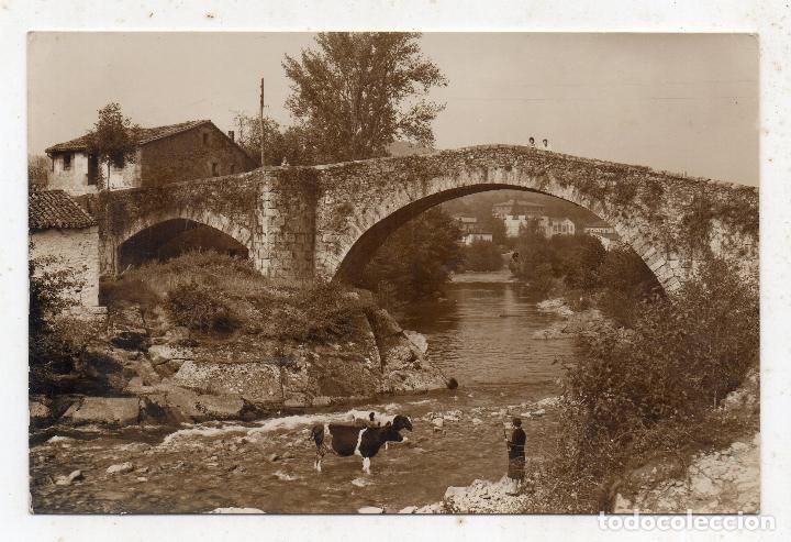 LIÉRGANES. PUENTE ROMANO. (Postales - España - Cantabria Moderna (desde 1.940))