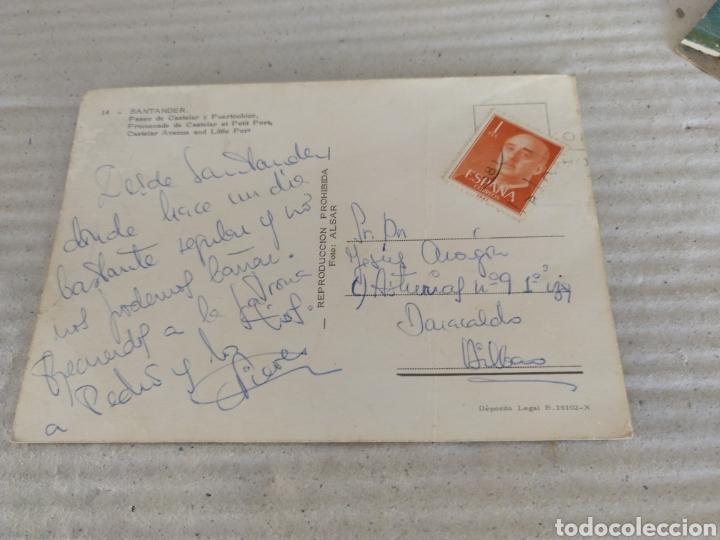 Postales: POSTAL DE SANTANDER,PASEO DE CASTELAR Y PUERTOCHICO. EDICIONES ALSAR 1967. CIRCULADA - Foto 2 - 19151592