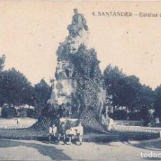 Postales: SANTANDER (CANTABRIA) - ESTATUA DE PEREDA. Lote 214323840