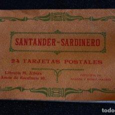 Postales: CUADERNILLO CON 6 POSTALES SANTADER - SARDINERO. FOTOTIPIAS DE HAUSER Y MENET. Lote 214526701