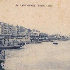 Cartes Postales: SANTANDER PUERTO CHICO. ESCRITA. Lote 215242261