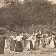 Postales: ALCEDA - BAILE DE ALDEANOS LIBRERIA GENERAL C. EN 1906. Lote 215440528
