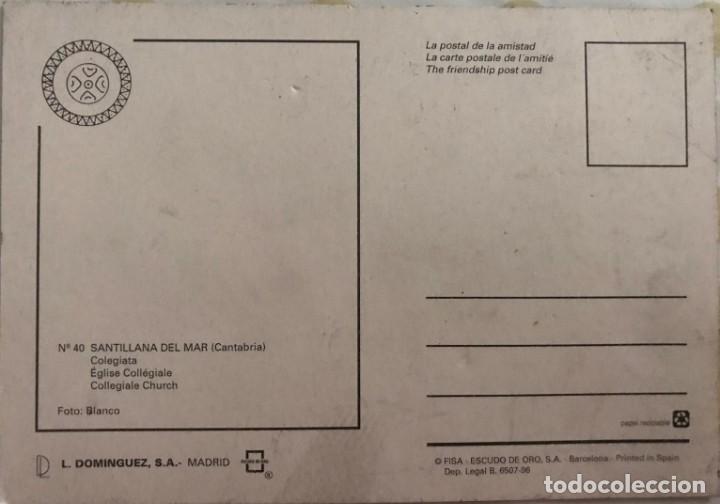 Postales: POSTAL SANTILLANA DE MAR - ESCUDO DE ORO - Nº 40 - Foto 2 - 215773490