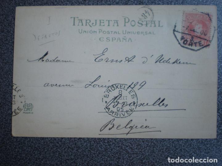 Postales: CANTABRIA SANTANDER HAUSER 290 LAS FERIAS EN LA ALAMEDA POSTAL AÑO 1905 - Foto 2 - 218795128