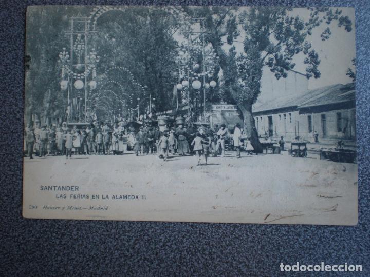 CANTABRIA SANTANDER HAUSER 290 LAS FERIAS EN LA ALAMEDA POSTAL AÑO 1905 (Postales - España - Cantabria Antigua (hasta 1.939))