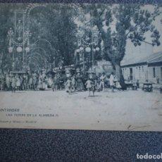 Postales: CANTABRIA SANTANDER HAUSER 290 LAS FERIAS EN LA ALAMEDA POSTAL AÑO 1905. Lote 218795128