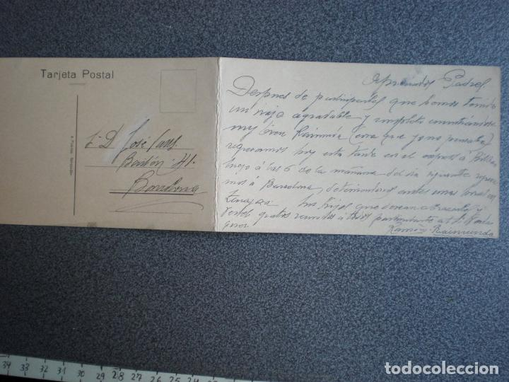 Postales: CANTABRIA SANTANDER EL SARDINERO RARA POSTAL DOBLE ANTIGUA A?O 1922 - Foto 2 - 218795142