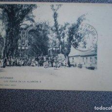 Postales: CANTABRIA SANTANDER HAUSER 290 LAS FERIAS EN LA ALAMEDA POSTAL AÑO 1902. Lote 218795143