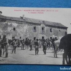 Postales: ACADEMIA CABALLERÍA LLEGADA A RENEDO CANTABRIA RARA POSTAL AÑO 1909. Lote 218795292