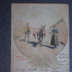 Postales: CANTABRIA CROQUIS ALPESTRE POSTAL AÑO 1901. Lote 218795333