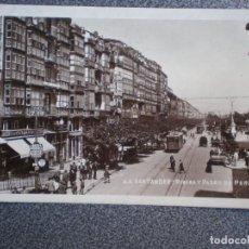 Postales: CANTABRIA SANTANDER RIBERA Y PASEO DE PEREDA POSTAL ANTIGUA. Lote 218795338
