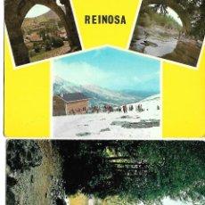 Postales: PAREJA DE POSTALES ANTIGUAS AÑOS 60 DE REINOSA CIRCULADAS. Lote 221149110