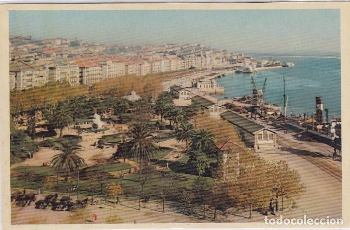 SANTANDER. PASEO DE PEREDA FRENTE A LA BAHIA. ED. DOMINGUEZ. Nº 7. POSTÁL SIN CIRCULAR. (Postales - España - Cantabria Moderna (desde 1.940))