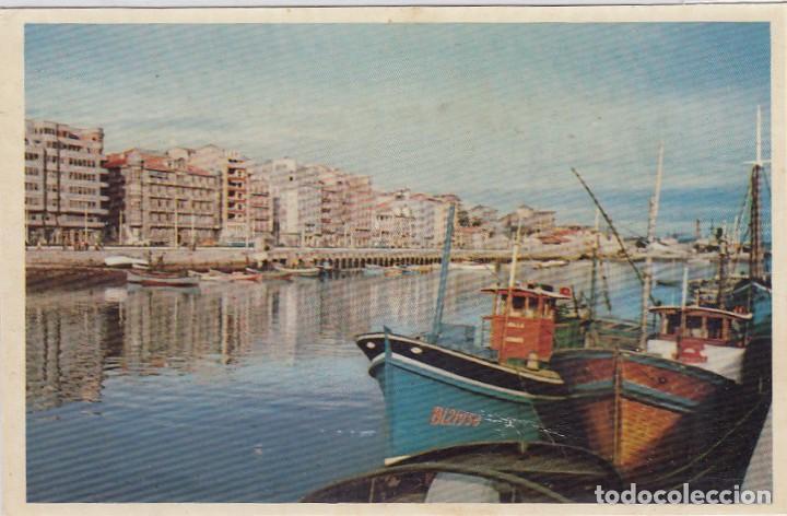 SANTANDER. PUERTO CHICO Y CALLE CASTELAR. ED. DOMINGUEZ. Nº 1. POSTÁL SIN CIRCULAR. (Postales - España - Cantabria Moderna (desde 1.940))