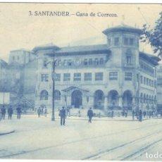 Postales: POSTAL. SANTANDER - CASA DE CORREOS Nº 3, SIN CIRCULAR.. Lote 221369971