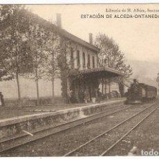 Postales: ALCEDA-ONTANEDA (CANTABRIA) ESTACIÓN.. Lote 221564317