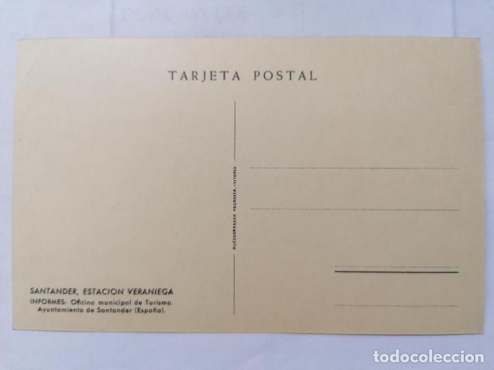 Postales: POSTAL SANTANDER, ESTACION VERANIEGA, OFICINA MUNICIPAL DE TURISMO, SIN CIRCULAR,, AÑOS 30 - Foto 2 - 221970801