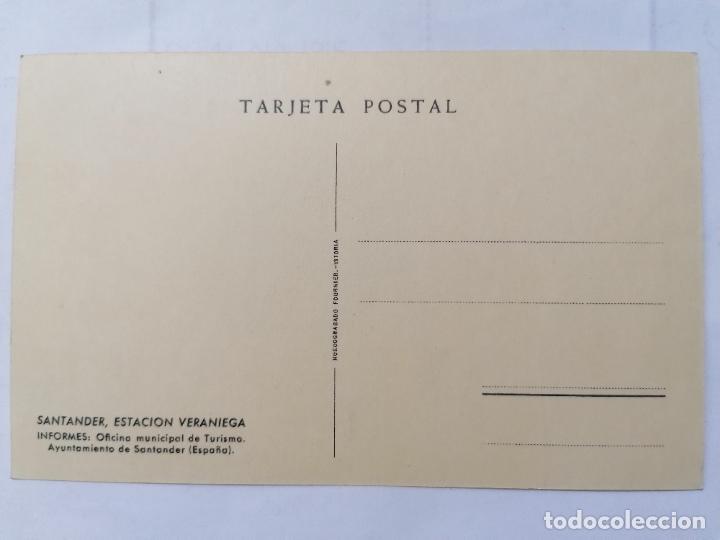 Postales: POSTAL SANTANDER, ESTACION VERANIEGA, OFICINA MUNICIPAL DE TURISMO, SIN CIRCULAR,, AÑOS 30 - Foto 2 - 221970820