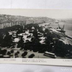 Postales: POSTAL SANTANDER, JARDINES Y PASEO DE PEREDA,, AÑOS 50, FOTOS L, ROISIN. Lote 221971047