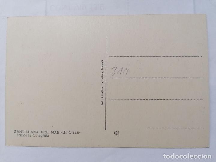 Postales: POSTAL SANTILLANA DEL MAR, UN CLAUSTRO DE LA COLEGIATA,, AÑOS 40 - Foto 2 - 221971186