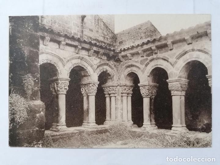 POSTAL SANTILLANA DEL MAR, UN CLAUSTRO DE LA COLEGIATA,, AÑOS 40 (Postales - España - Cantabria Moderna (desde 1.940))