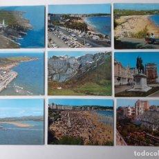 Postales: 9 POSTALES DE SANTANDER AÑOS 50 Y 60. Lote 222275347