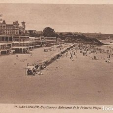 Postales: POSTAL SANTANDER - SARDINERO Y BALNEARIO DE LA PRIMERA PLAYA - ROISIN. Lote 222520815