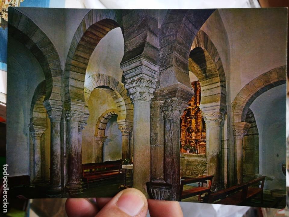 POSTAL LEBEÑA SANTANDER SANTA MARÍA DE LEBEÑA MONUMENTO NACIONAL INTERIOR DE ESTILO VISIGODO ROMANO (Postales - España - Cantabria Moderna (desde 1.940))