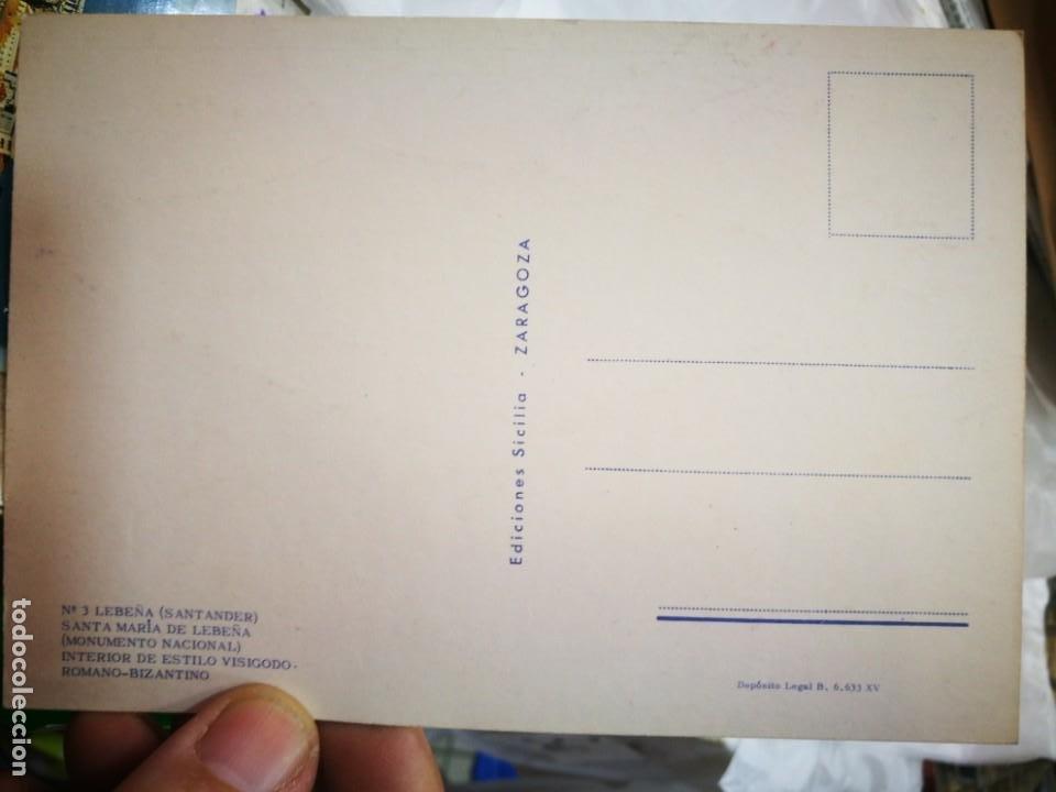 Postales: Postal Lebeña Santander Santa María de Lebeña Monumento Nacional Interior de Estilo Visigodo Romano - Foto 2 - 222586570