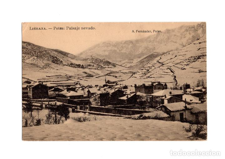 LIÉBANA.POTES.(CANTABRIA).- PAISAJE NEVADO. (Postales - España - Cantabria Antigua (hasta 1.939))