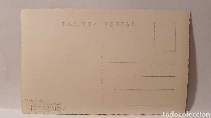 Postales: 76. SANTANDER/ PLAYA Y PIQUÍO/ SIN CIRCULAR/ (REF.D.174) - Foto 2 - 227615440