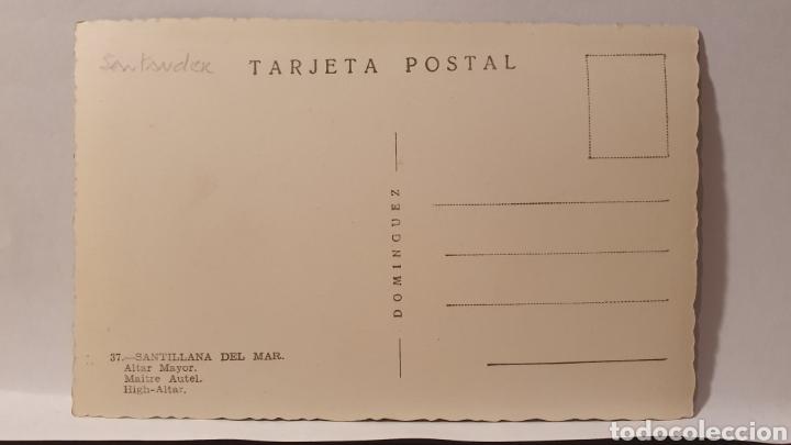 Postales: 37. SANTILLANA DEL MAR/ ALTAR MAYOR/ SIN CIRCULAR/ (REF.D.174) - Foto 2 - 227615620