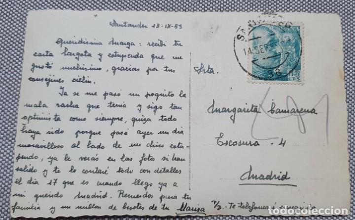 Postales: Postal Santander Avenida de Calvo Sotelo. Circulada 1953. Ed Arribas Número 90 - Foto 2 - 227724264