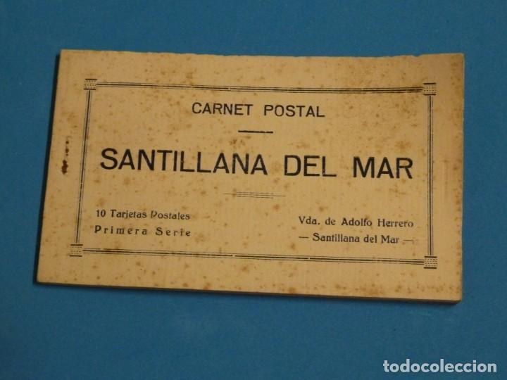 CARNET POSTAL. SANTILLANA DEL MAR. 10 POSTALES. PRIMERA SERIE. AÑOS 50 (Postales - España - Cantabria Moderna (desde 1.940))