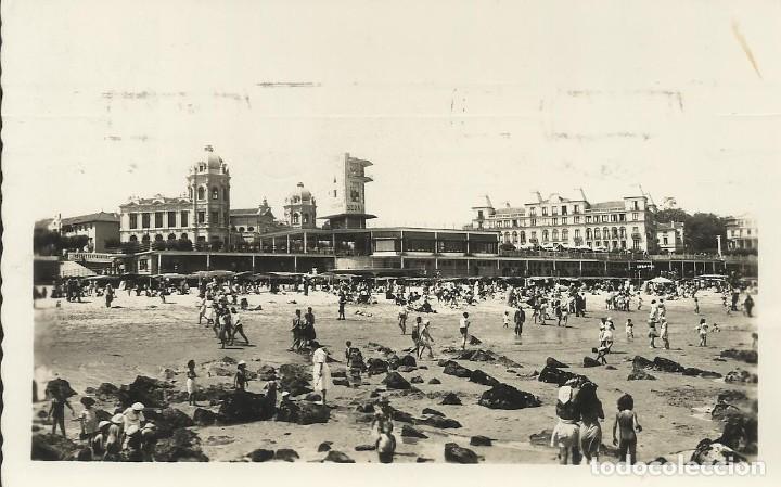SANTANDER. SARDINERO PRIMERA PLAYA GRAN HOTEL GRAN CASINO. ARRIBAS. 70. 10X15 CM. BUEN ESTADO. 1958. (Postales - España - Cantabria Moderna (desde 1.940))