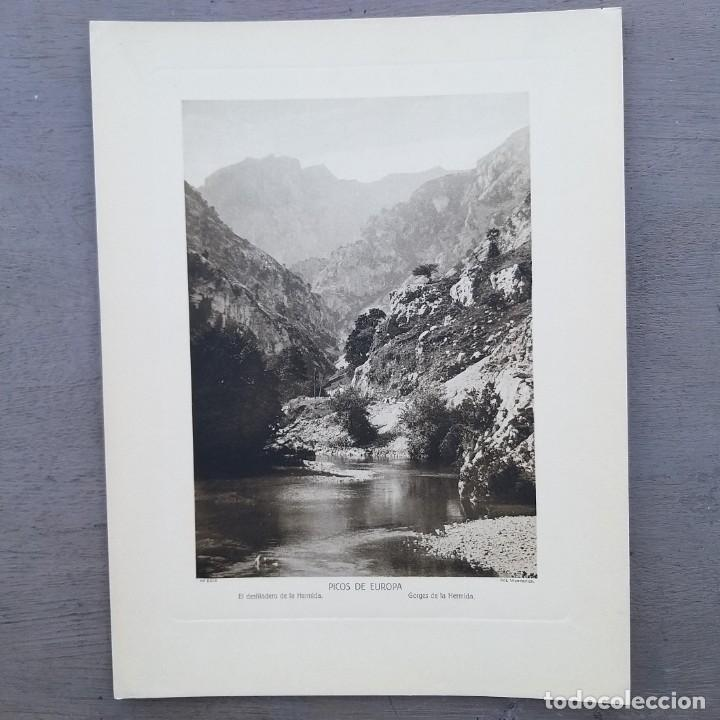 GRAN FOTOGRAFIA/FOTOTIPIA IMPRESA DESFILADERO DE HERMIDA PICOS DE EUROPA FOTO OTTO WUNDERLICH (Postales - España - Cantabria Antigua (hasta 1.939))