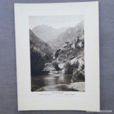 Postales: GRAN FOTOGRAFIA/FOTOTIPIA IMPRESA DESFILADERO DE HERMIDA PICOS DE EUROPA FOTO OTTO WUNDERLICH. Lote 229750020
