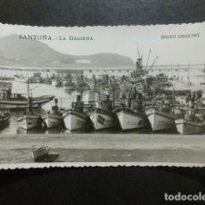 Postales: SANTOÑA CANTABRIA LA DARSENA FOTO CHOLIN. Lote 234169210