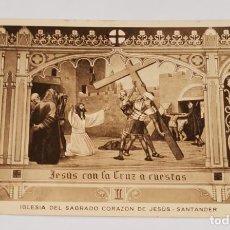 Postales: SANTANDER- IGLESIA DEL SAGRADO CORAZÓN DE JESÚS - HUECO GRABADO MAMBRU - ANTIGUA TARJETA POSTAL. Lote 234938225