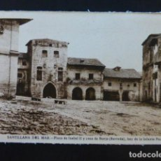 Postales: SANTILLANA DEL MAR CANTABRIA PLAZA DE ISABEL II. Lote 235714890