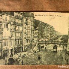 Postales: POSTAL SANTANDER DE 1921 PARA CAFE VICENTINO DE CEUTA. Lote 238275325