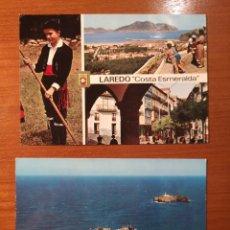 Postales: 2 POSTALES LAREDO Y SANTANDER DE LOS 60. Lote 238488860