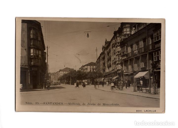 SANTANDER.(CANTABRIA).- ALAMEDA DE JESÚS DE MONASTERIO. POSTAL FOTOGRÁFICA. (Postales - España - Cantabria Antigua (hasta 1.939))