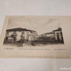 Postais: CANTABRIA - POSTAL REINOSA - FUENTE DE LA AURORA Y CALLE DE LA PELILLA - COL. J.G. DE LA PUENTE Nº8. Lote 240905255