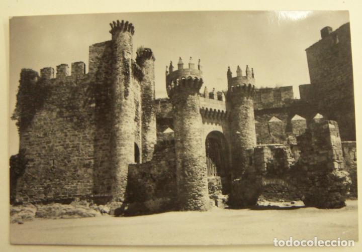 POSTAL DE PONFERRADA CASTILLO DE LOS TEMPLARIOS. - EDICIONES PARIS Nº 11 CIRCULADA (Postales - España - Cantabria Moderna (desde 1.940))