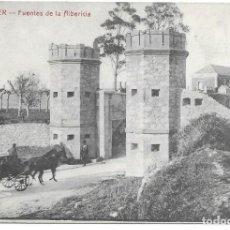 Postales: POSTAL SANTANDER FUENTES DE LA ALBERICIA SEÑOR CON CARRO Y CABALLOS CANTABRIA. Lote 242854885
